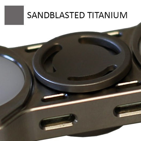 Low Profile Sandblasted Titanium Buttons for REBEL Spinner (PRE-ORDER)