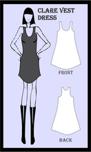 Load image into Gallery viewer, Clare vest dress sewing pattern