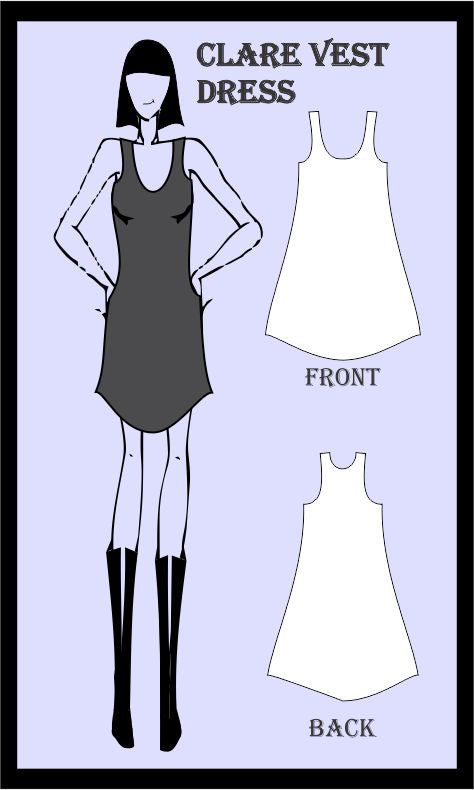 Clare vest dress sewing pattern