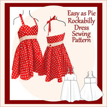 Load image into Gallery viewer, Easy as Pie Rockabilly dress Sewing Pattern