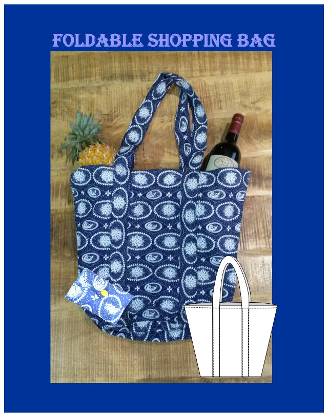 Foldable shopper sewing pattern