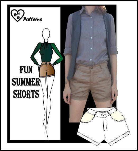 Fun summer shorts sewing pattern