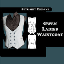 Load image into Gallery viewer, Gwen ladies waistcoat sewing pattern