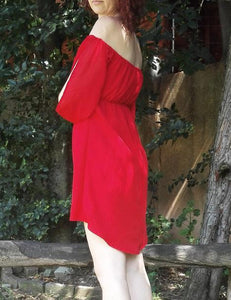 Off-the-shoulder Merri dress sewing pattern