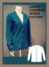 Load image into Gallery viewer, Ladies cardigan sewing pattern