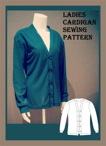 Ladies cardigan sewing pattern