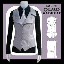 Load image into Gallery viewer, Ladies collared waistcoat sewing pattern