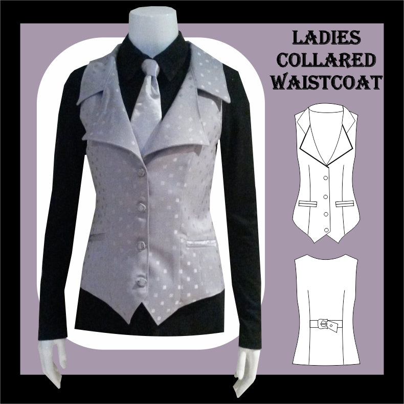 Ladies collared waistcoat sewing pattern