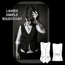 Load image into Gallery viewer, Ladies simple waistcoat sewing pattern