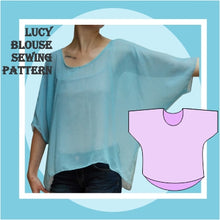 Load image into Gallery viewer, Lucy blouse sewing pattern