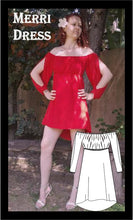 Load image into Gallery viewer, Off-the-shoulder Merri dress sewing pattern