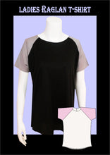 Load image into Gallery viewer, Ladies raglan t-shirt  sewing pattern