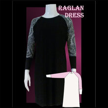 Load image into Gallery viewer, Raglan dress sewing pattern