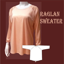 Load image into Gallery viewer, Raglan sweater sewing pattern