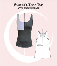 Load image into Gallery viewer, Runners tank top sewing pattern