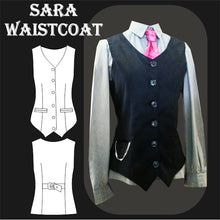 Load image into Gallery viewer, Sara ladies waistcoat sewing pattern