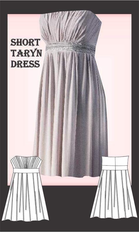 Short Taryn dress Sewing Pattern