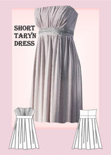 Load image into Gallery viewer, Short Taryn dress Sewing Pattern