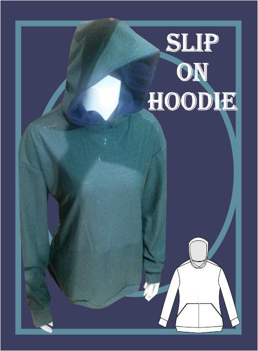 Slip on hoodie sewing pattern