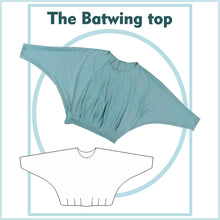 Load image into Gallery viewer, Batwing Top sewing pattern