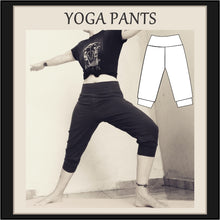 Load image into Gallery viewer, Easy yoga pants sewing pattern