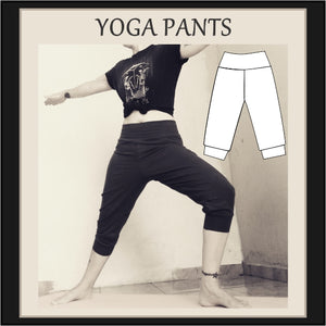 Easy yoga pants sewing pattern