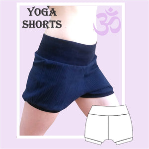 Easy yoga shorts sewing pattern