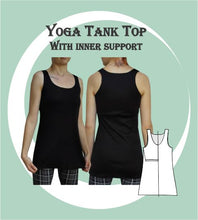 Load image into Gallery viewer, Yoga tank top sewing pattern