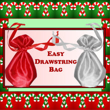 Load image into Gallery viewer, Sewing Pattern: Easy 10 step drawstring bag