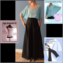 Load image into Gallery viewer, Really Easy high waist wide legged pants sewing pattern