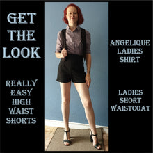 Load image into Gallery viewer, Ladies short waistcoat sewing pattern
