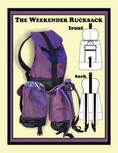 Load image into Gallery viewer, The weekender rucksack sewing pattern