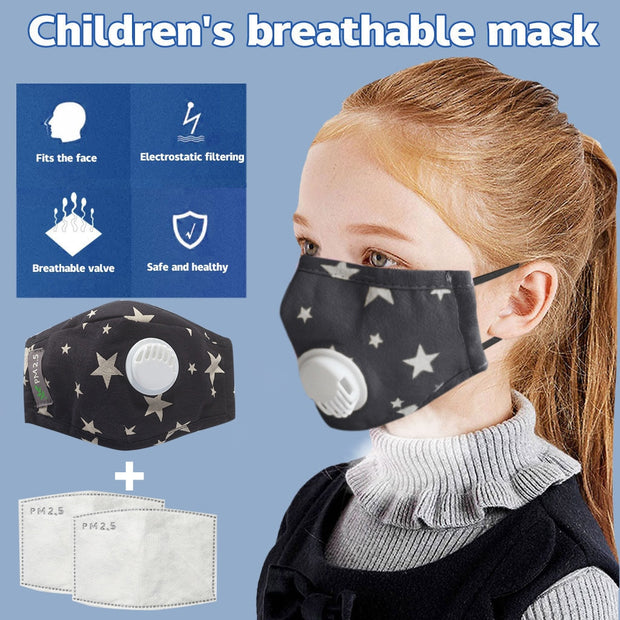 1 PCS Kids Face Care Cover And 2 pcs Filter Reusable