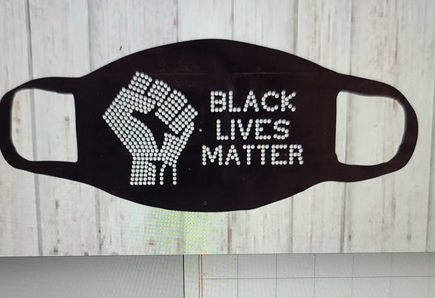 Black Lives Matter Bling Face Cover