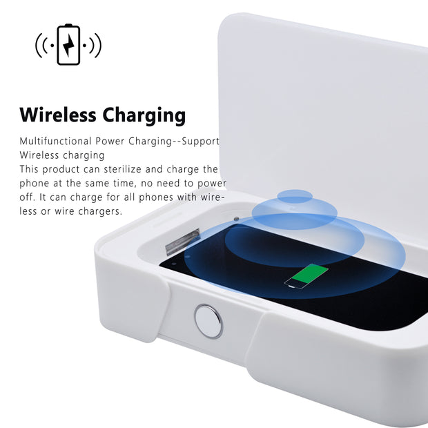 All Around Disinfection Wireless Charging Mobile Phone UV Ozone Light Sterilizer