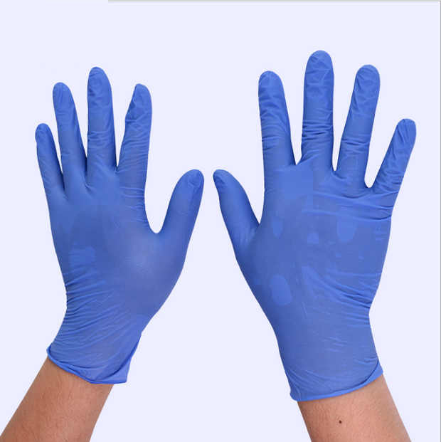 Blue Powder Free non-Medical Nitrile Gloves With High Quality Disposable