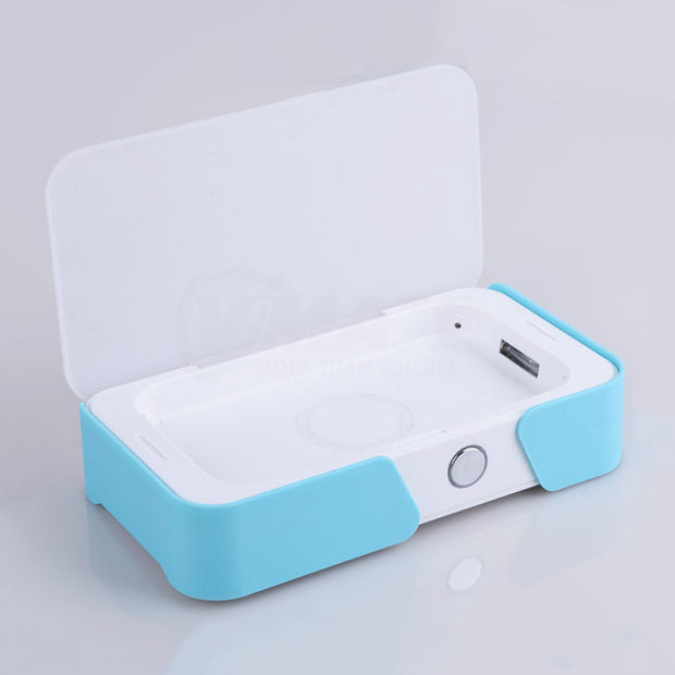 Multiple function UV light mobile phone sanitizer/sterilizer wireless charge
