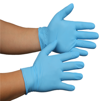 9'' powder free disposable nitrile gloves
