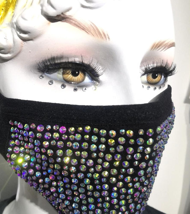Rhinestone Filtered Face Cover