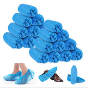100Pcs Disposable Plastic  Shoe Cover Blue waterproof