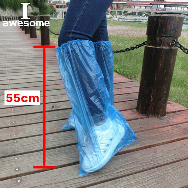 5 Pairs Waterproof Thick Plastic Disposable Rain Polypropylene Shoe Covers