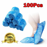 Blue Shoe Covers Disposable -100 Pack 50 Pairs  Disposable Shoe & Boot Covers