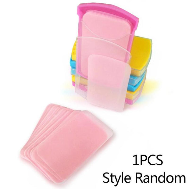 50 Pieces Mini Soap Paper Hand Wash Skin Care Traveling Disposable