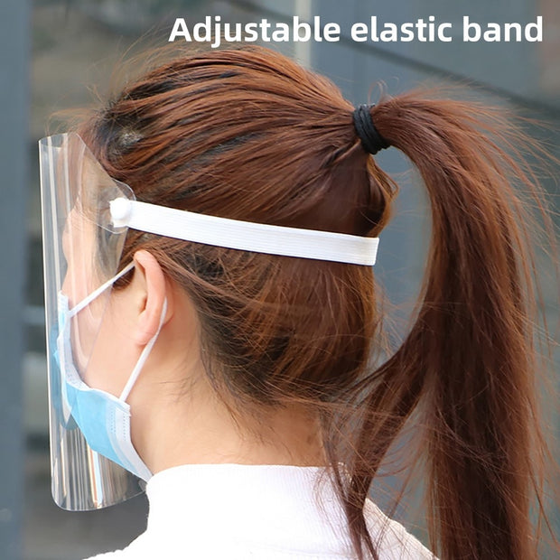 1PCS Transparent Anti Droplet Dust-proof Protect Full Face Covering Mask Visor Shield