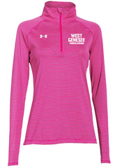 Under Armour® Striped 1/4 Zip Tech Tops- LADIES