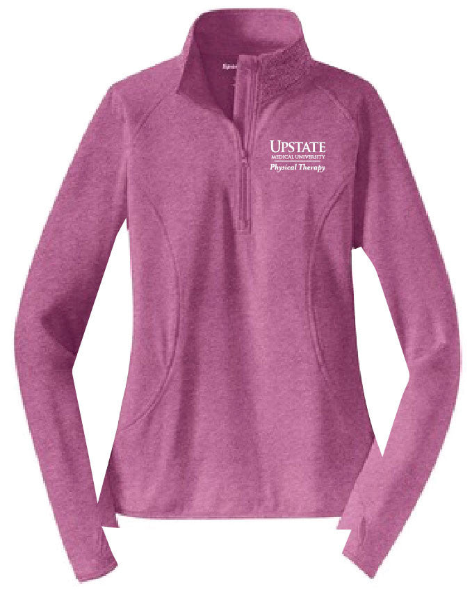 Upstate Physical Therapy Ladies Quarter-Zip Performance Warmups