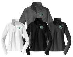FM Hornets Ladies 1/4 Zip Performance Dry-Wick Performance WarmUp Tops