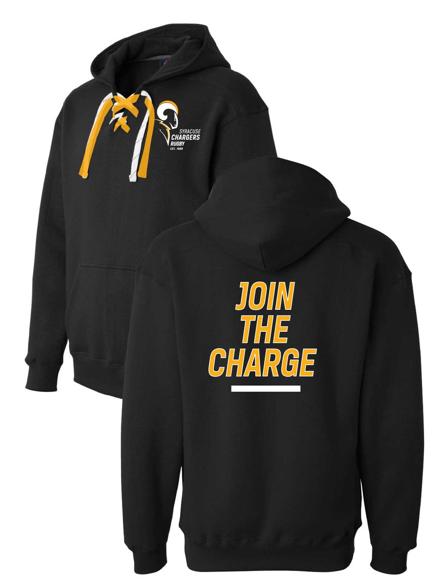 Syracuse Chargers Rugby HOCKEY LACE Hoodies