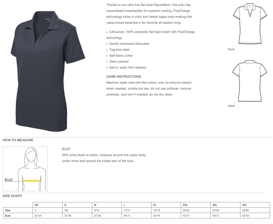 Dry-Fit Polo Shirts - Ladies