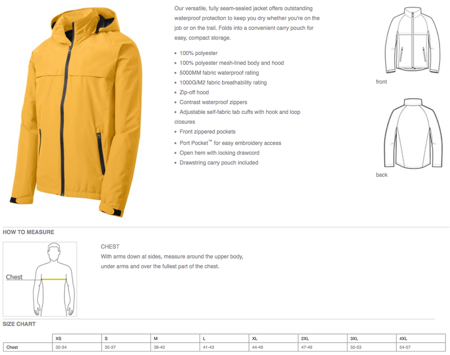Torrent Waterproof Rain Jacket - Men's & Ladies